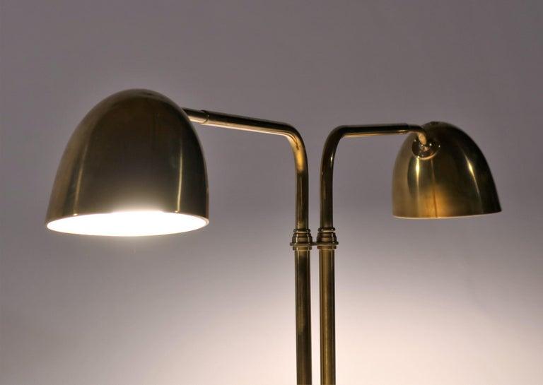 Scandinavian Modern Huge Desk Lamp in Brass by Vilhelm Lauritzen in the 1940s For Sale 3