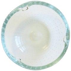 Scandinavian Modern Ice Blue Art Glass Bowl