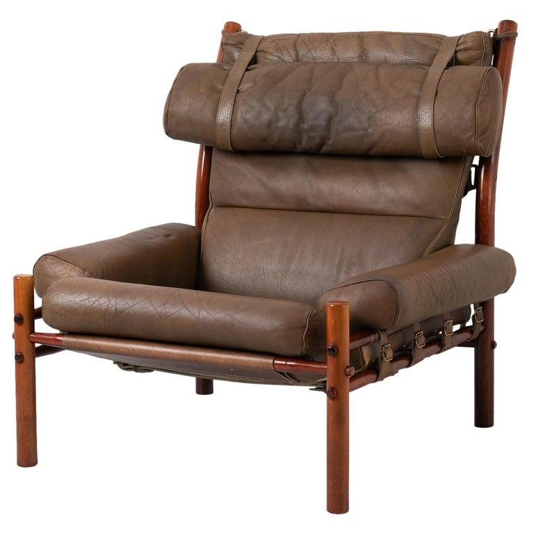 Scandinavian Modern Inca Lounge Chair, Arne Norell Inca Chair