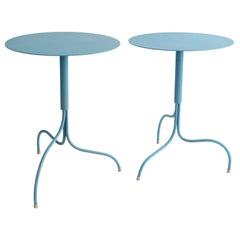 "Scandinavian Modern Jonas Bohlin ""Liv"" Tables Powder-Coated in Blue by Klong"