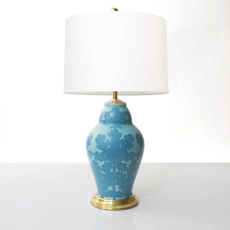 Scandinavian Modern Art Deco table lamp in ceramic
