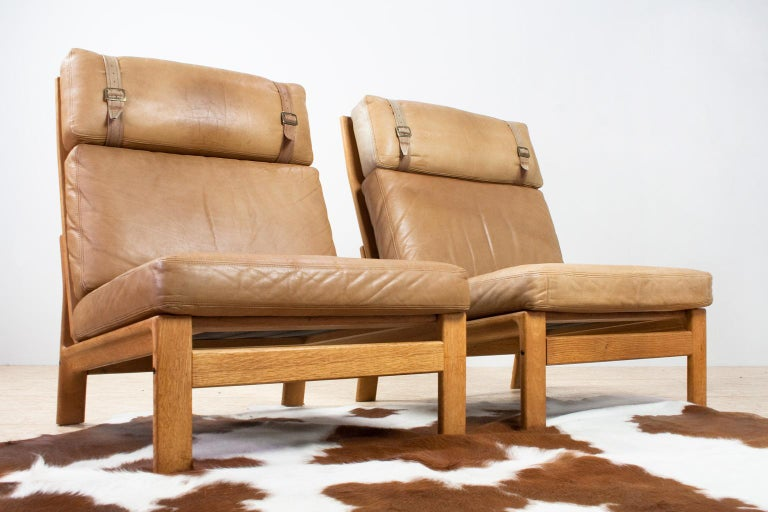 Scandinavian Modern Komfort Lounge Chair in Leather and Oak, 1960s For Sale 5