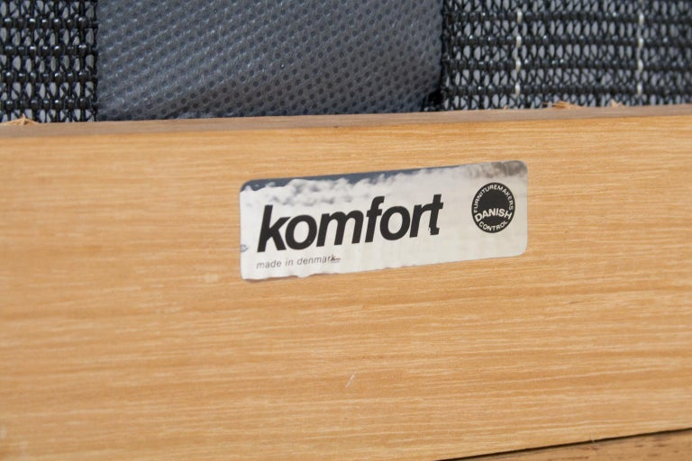 Scandinavian Modern Komfort Lounge Chair in Leather and Oak, 1960s For Sale 6