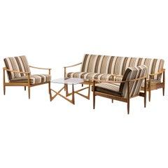 Scandinavian Modern Living Room Suite with Folding Sofa