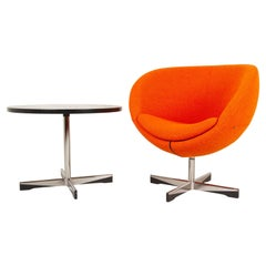 Scandinavian Modern Lounge Chair and Table by Sven Ivar Dysthe, 21st Century