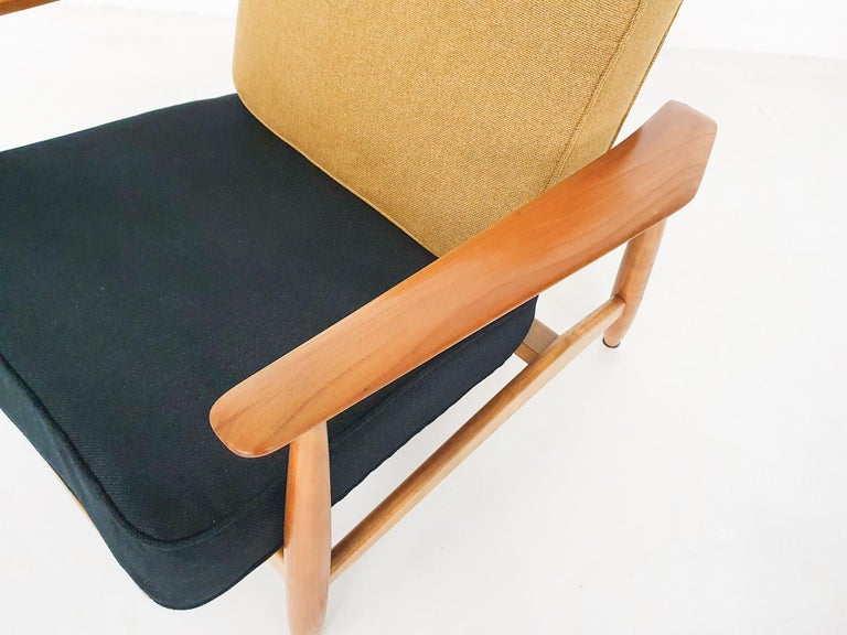 Scandinavian Modern Lounge Chair Attributed Alf Svensson, 1960s For Sale 4
