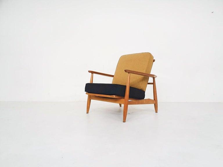 Mid-Century Modern Scandinavian Modern Lounge Chair Attributed Alf Svensson, 1960s For Sale