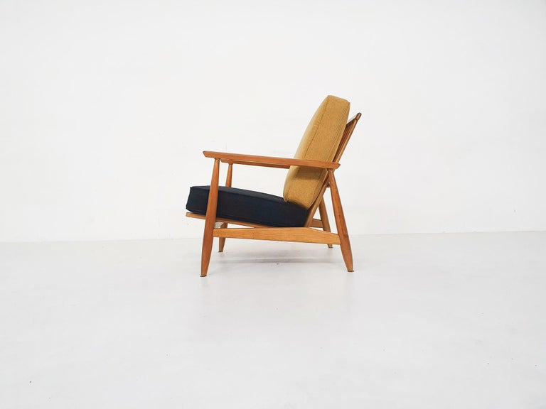 Scandinavian Modern Lounge Chair Attributed Alf Svensson, 1960s In Good Condition For Sale In Amsterdam, NL
