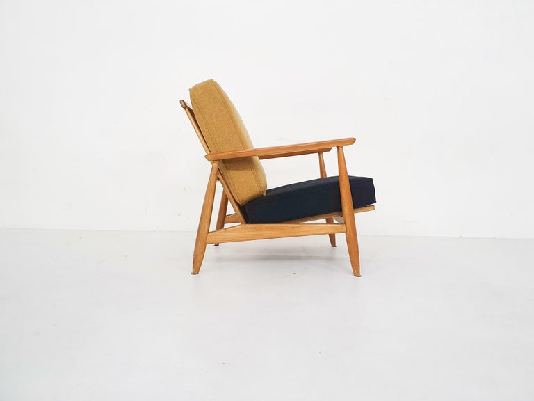 Mid-20th Century Scandinavian Modern Lounge Chair Attributed Alf Svensson, 1960s For Sale