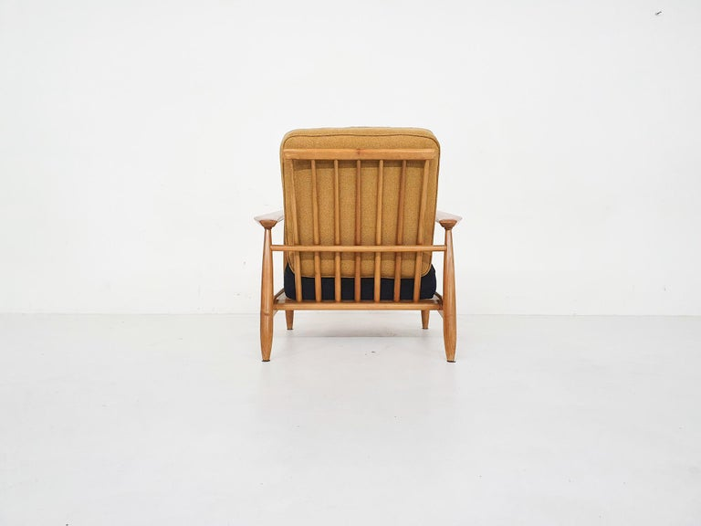 Fabric Scandinavian Modern Lounge Chair Attributed Alf Svensson, 1960s For Sale