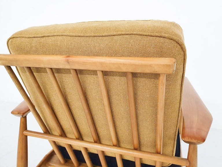 Scandinavian Modern Lounge Chair Attributed Alf Svensson, 1960s For Sale 1