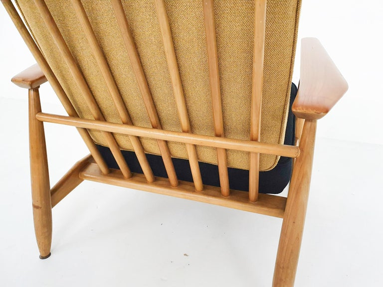 Scandinavian Modern Lounge Chair Attributed Alf Svensson, 1960s For Sale 2