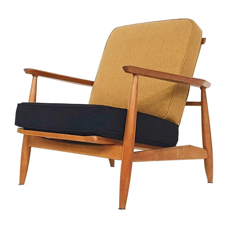 Scandinavian Modern Lounge Chair Attributed Alf Svensson, 1960s For Sale