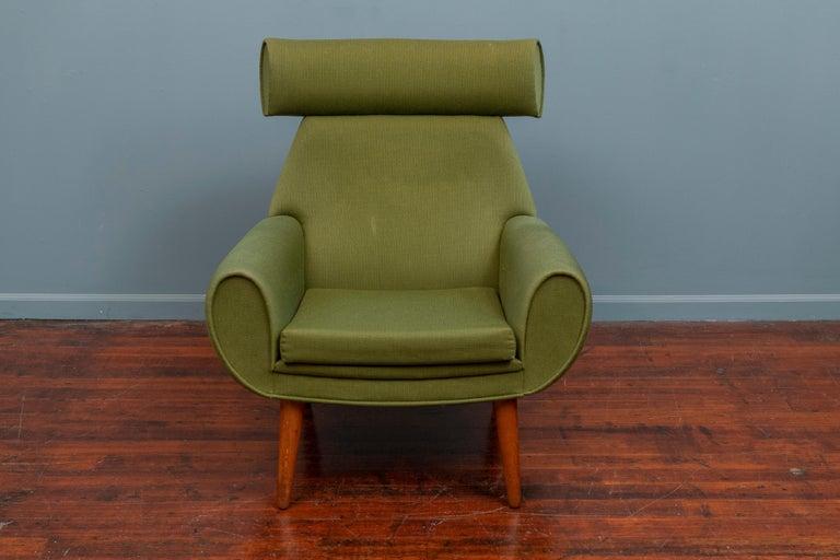 Danish Scandinavian Modern Lounge Chair by Kurt Ostervig For Sale