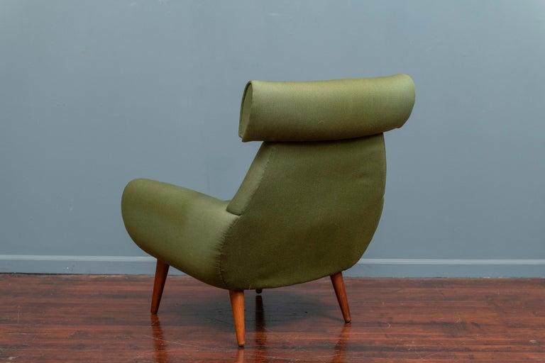 Mid-20th Century Scandinavian Modern Lounge Chair by Kurt Ostervig For Sale