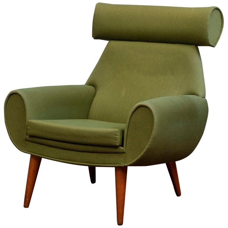 Scandinavian Modern Lounge Chair by Kurt Ostervig For Sale