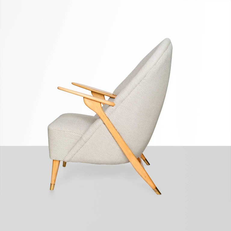 Danish Scandinavian Modern Lounge Chair by Svante Skogh for Säffle Möbelfabrik For Sale
