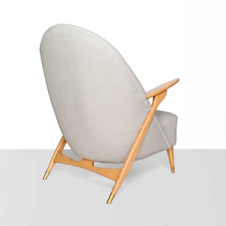 Polished Scandinavian Modern Lounge Chair by Svante Skogh for Säffle Möbelfabrik For Sale