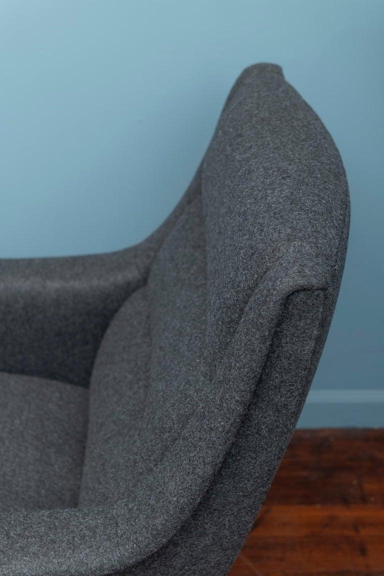 Upholstery Scandinavian Modern Lounge Chair For Sale