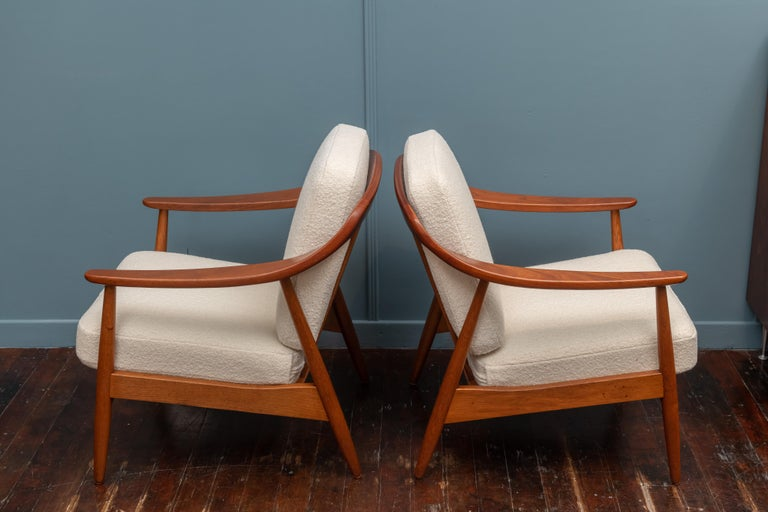 Teak Scandinavian Modern Lounge Chairs For Sale