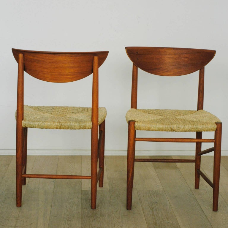 Danish Scandinavian Modern Mod. 316 Teak Dining Chair by Peter Hvidt for Soborg For Sale