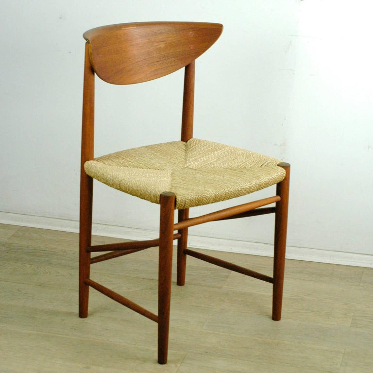 Scandinavian Modern Mod. 316 Teak Dining Chair by Peter Hvidt for Soborg In Good Condition For Sale In Vienna, AT