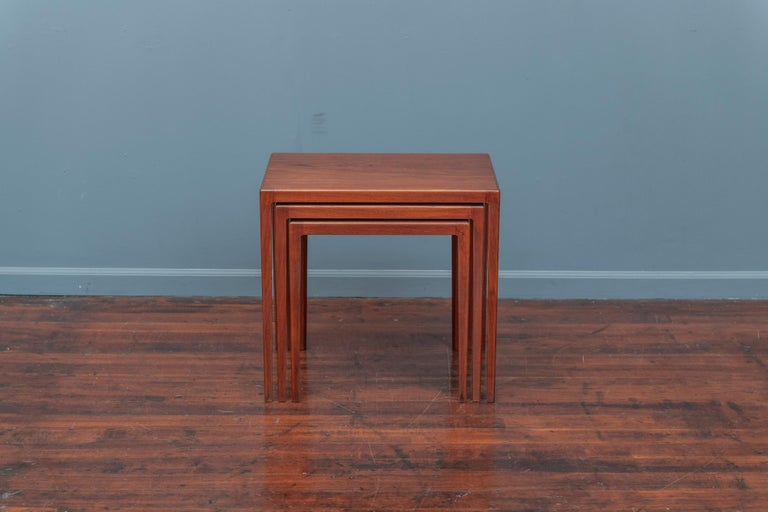 Mid-20th Century Scandinavian Modern Nesting Tables by Eske Kristiansen for L.Pontopiddan For Sale