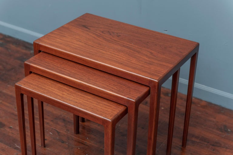 Scandinavian Modern Nesting Tables by Eske Kristiansen for L.Pontopiddan For Sale 2