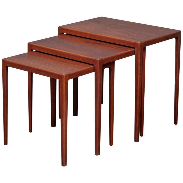 Scandinavian Modern Nesting Tables by Eske Kristiansen for L.Pontopiddan For Sale