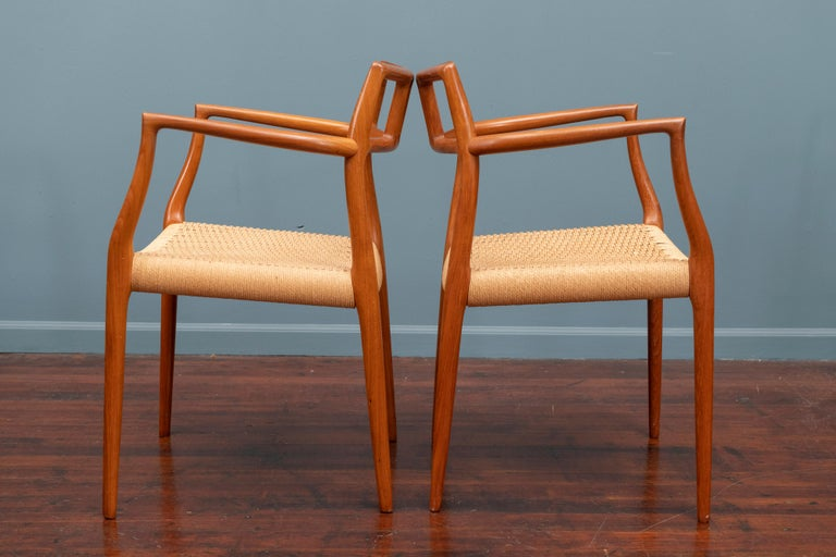 Scandinavian Modern Niels O. Moller Model 79 Dining Chairs In Good Condition For Sale In San Francisco, CA