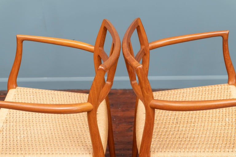Scandinavian Modern Niels O. Moller Model 79 Dining Chairs For Sale 1