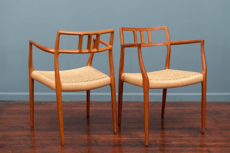 Scandinavian Modern Niels O. Moller Model 79 Dining Chairs For Sale 2