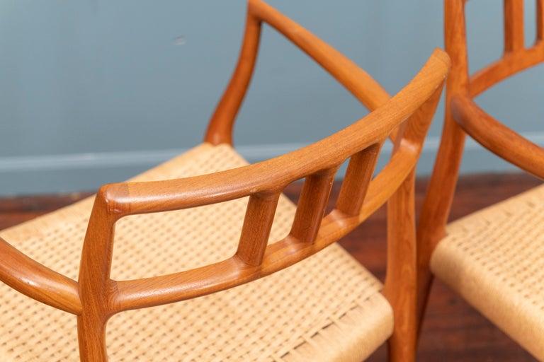 Scandinavian Modern Niels O. Moller Model 79 Dining Chairs For Sale 3