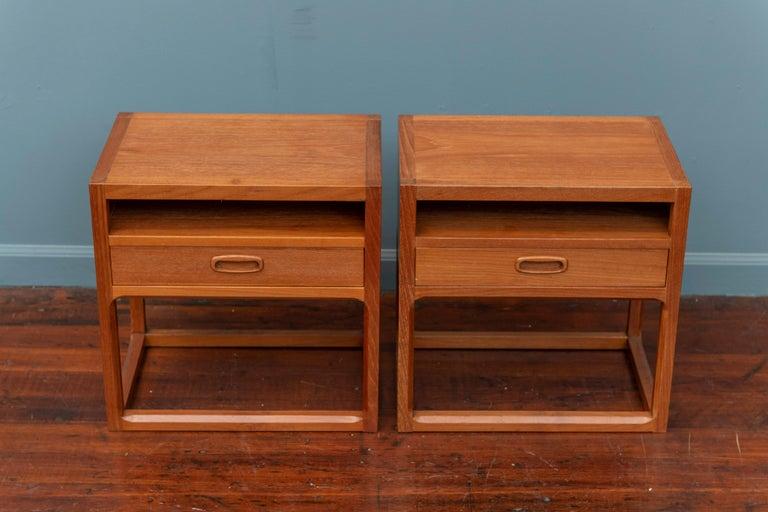 Oak Scandinavian Modern Nightstands by Aksel Kjersgaard For Sale