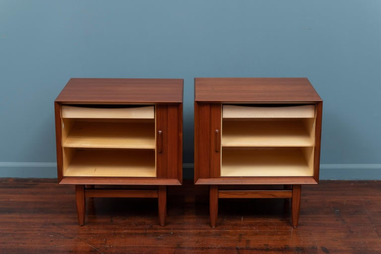 Mid-20th Century Scandinavian Modern Nightstands by Falster For Sale