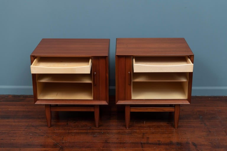 Teak Scandinavian Modern Nightstands by Falster For Sale
