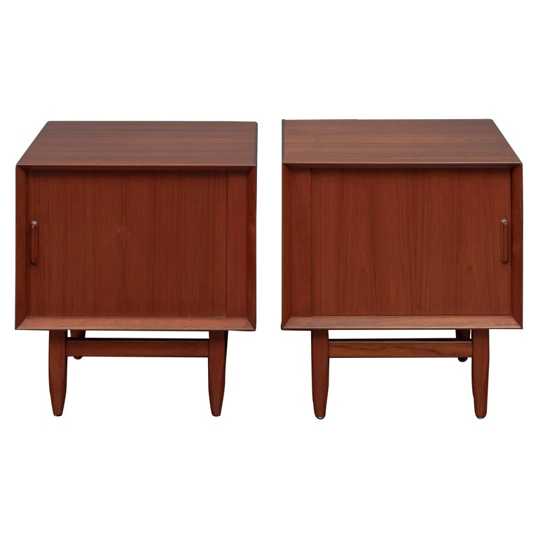 Scandinavian Modern Nightstands by Falster For Sale
