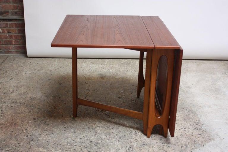 Scandinavian Modern Oak And Beech Gateleg Dining Table For