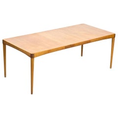 Scandinavian Modern Oak Extendable Dining Table by H.W. Klein for Bramin Denmark