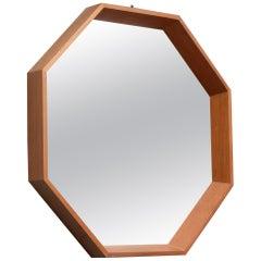 Scandinavian Modern Octagonal Mirror