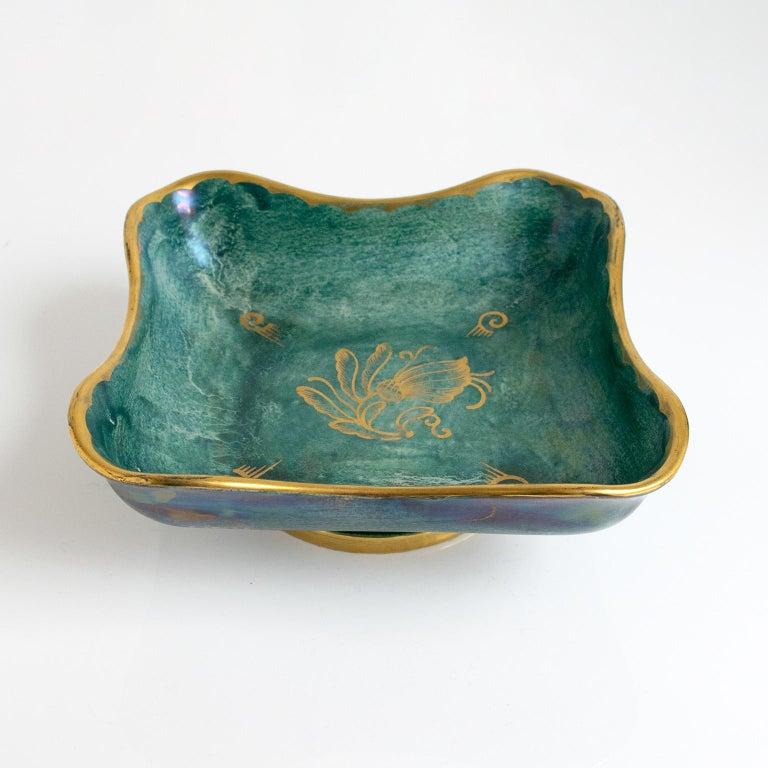 Art Deco Scandinavian Modern Organic Form Bowl by Josef Ekberg For Sale
