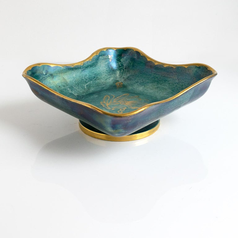 Scandinavian Modern Organic Form Bowl by Josef Ekberg In Excellent Condition For Sale In New York, NY