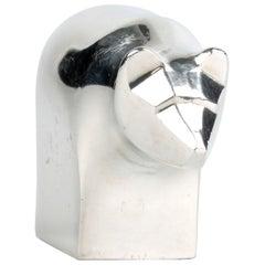 Scandinavian Modern Original Dansk Design Silver Plate Grizzly Bear Paperweight