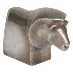 Scandinavian Modern Original Dansk Design Silver Plate Lion Paperweight, Denmark
