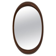 Scandinavian Modern Oval Wall Mirror