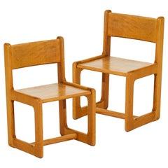 Scandinavian Modern Pair of Children Chairs, Stephan Gip and Herbert Andersson