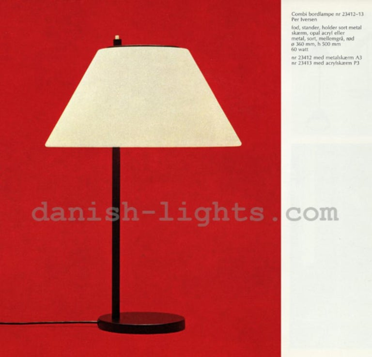 Scandinavian Modern Pair of Table Lamps by Per Iversen for Louis Poulsen, 1960s For Sale 4