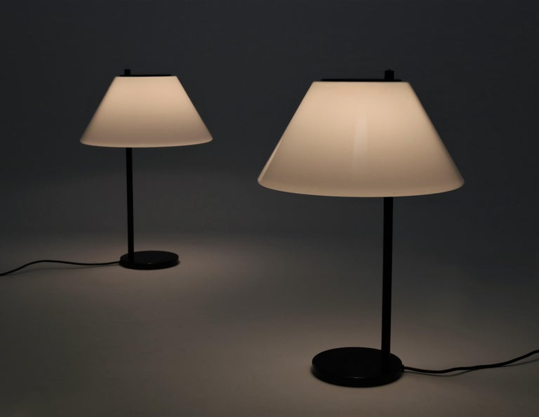 Danish Scandinavian Modern Pair of Table Lamps by Per Iversen for Louis Poulsen, 1960s For Sale