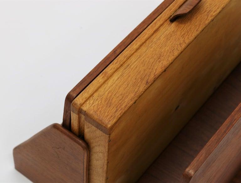 Mid-20th Century Scandinavian Modern Pair of Wall Mounted Tables in Teak & Oak, 1960s For Sale