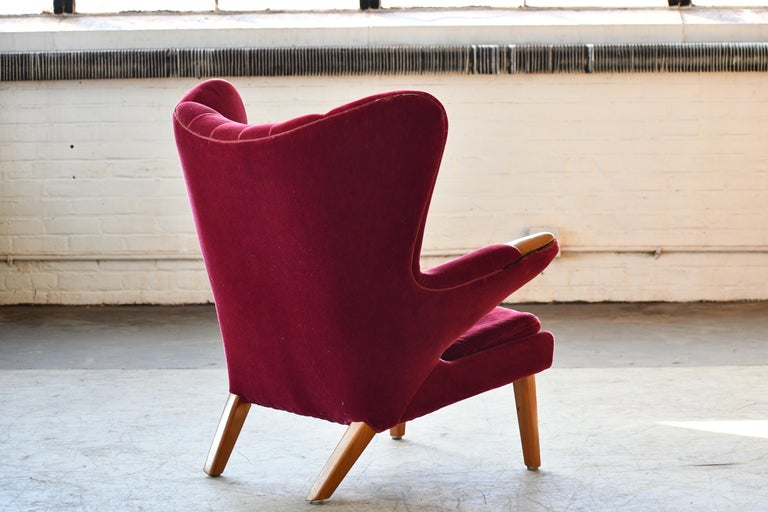 Scandinavian Modern Papa Bear High Back Lounge Chair, Sweden, 1950s In Good Condition For Sale In Bridgeport, CT